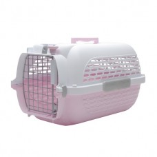 Catit Voyageur Cat Carrier - Pink/White - Small (48.3 cm L x 32.6 cm W x 28 cm H / 19 in x 12.8 in x 11 in)