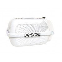 Catit Style Profile Voyageur Cat Carrier - White Tiger, Small (48.3 cm L x 32.6 cm W x 28 cm H / 19in x 12.8in x 11in)