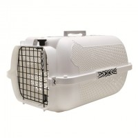 Catit Style Profile Voyageur Cat Carrier - White Tiger - Medium (56.5 cm L x 37.6 cm W x 30.8 cm H / 22 in x 14.8 in x 12 in)