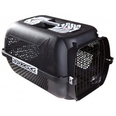 Catit Voyageur Cat Carrier- Black, White Tiger Print, Medium (56.5 cm L x 37.6 cm W x 30.8 cm H / 22in x 14.8in x 12in)