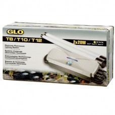 GLO T8/T10/T12 Electronic Fluorescent Lighting System for 2 x 20 W T8, T10 or T12 bulbs