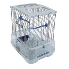 Vision Bird Cage for Small Birds (S01) - Small Wire - Single Height - 45.5 x 35.5 x 51 cm (18 L x 14 W x 20 in H)