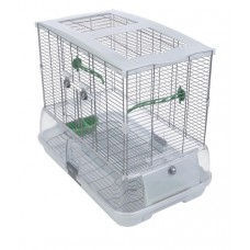 Vision Bird Cage for medium birds (M01) - Small Wire - Single Height - 61 x 38 x 52 cm (24 L x 15 W x 20.5 in H)