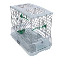 Vision Bird Cage for medium birds (M11)- Single height, Large wire- Size: 61 x 38 x 52 cm (24 L x 15 W x 20.5 in H)