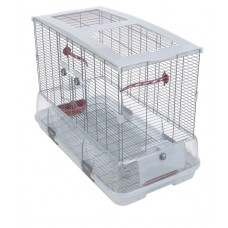Vision Bird Cage for large birds (L01) - Single Height - Small Wire - Size: 75 x 38 x 54.5 cm (29.5 L x 15 W x 21.5 in H)