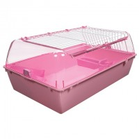 Living World Zoo Zone Habitat - Pink - Medium - 72 x 46 x 32.25 cm (28.25 x 18 x 12.75 in)