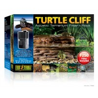 "Exo Terra Turtle Cliff Aquatic Terrarium Filter + Rock Small - 21 x 18x 9.5cm (8.3"" x 7"" x 3.7"" in)"