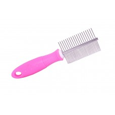 Double Sided Stainless Steel Grooming Comb for Dogs & Cats (Random Colours)