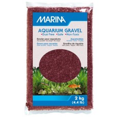 Marina Burgundy Decorative Aquarium Gravel - 2 kg (4.4 lb)