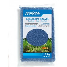 Marina Blue Decorative Aquarium Gravel - 2 kg (4.4 lb)