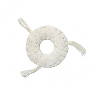 Catit Cat Eco Terra Toys with Catnip, Loofah Ring