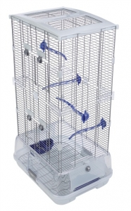 Vision Bird Cage for Small Birds (S02) - Small Wire - Double Height - 45.5 x 35.5 x 84.5 cm (18 L x 14 W x 33.25 in H)