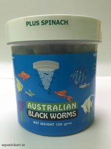 Australian Blackworms SPINACH 150 gms